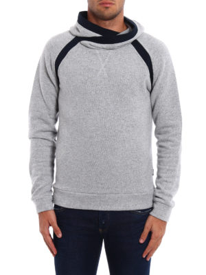 Dondup: Sweatshirts & Sweaters online - Cotton and wool blend hoodie