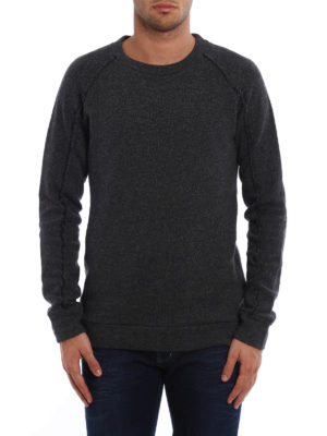 Dondup: Sweatshirts & Sweaters online - Melange cotton and wool sweater
