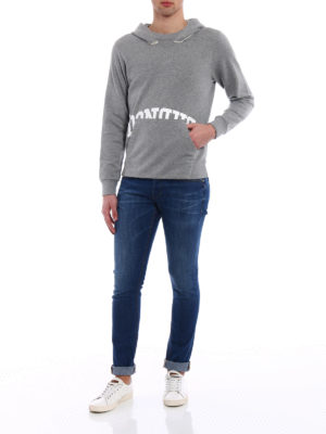 Dondup: Sweatshirts & Sweaters online - Palmas grey cotton hoodie