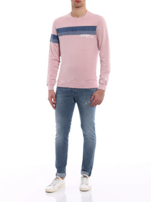 Dondup: Sweatshirts & Sweaters online - Pianosa denim stripe sweatshirt