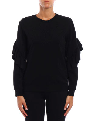 Dondup: Sweatshirts & Sweaters online - Prasiolite frilled sweatshirt