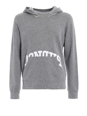 Dondup: Sweatshirts & Sweaters - Palmas grey cotton hoodie