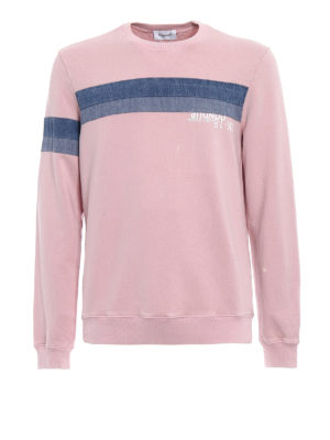 Dondup: Sweatshirts & Sweaters - Pianosa denim stripe sweatshirt