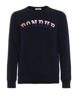 Dondup: Sweatshirts & Sweaters - Rodi embroidered logo sweatshirt
