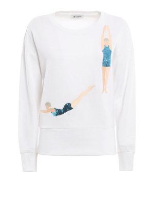 Dondup: Sweatshirts & Sweaters - Sequin embroidered sweatshirt