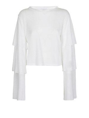 DONDUP: t-shirt - T-shirt crop con maniche a balze