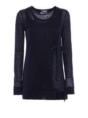 Dondup: t-shirts - Fluorite alpaca blend T-shirt