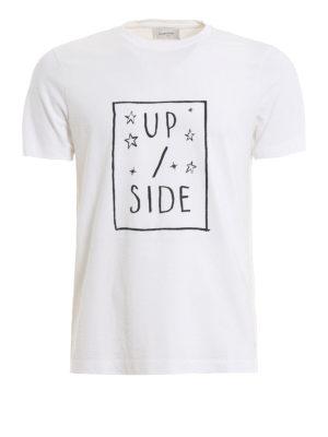 4eb0a42eb DONDUP: t-shirt - T-shirt in cotone bianco con stampa davanti