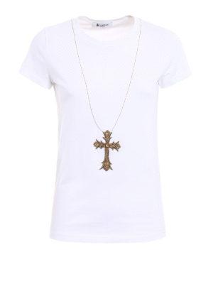 Dondup: t-shirts - Gipsy embellished Tee
