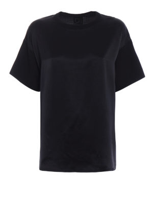 Dondup: t-shirts - Iconic satin and cotton T-shirt