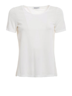 Dondup: t-shirts - Maia open back T-shirt
