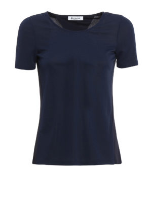 Dondup: t-shirts - Maia open back T-shirt