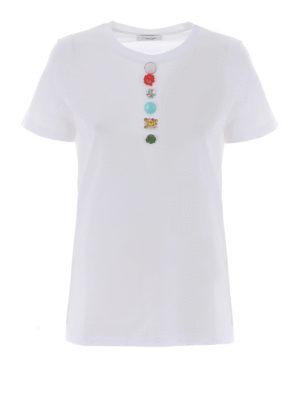 Dondup: t-shirts - Multicolor applications T-shirt