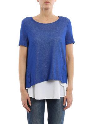 Dondup: t-shirts online - Crepe silk insert Altair T-shirt