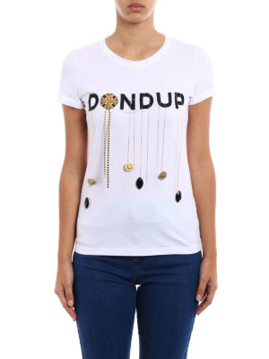 Dondup: t-shirts online - Gipsy embellished cotton Tee