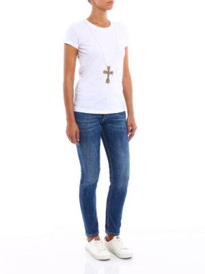 Dondup: t-shirts online - Gipsy embellished Tee