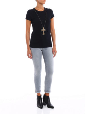 Dondup: t-shirts online - Gipsy embellished Tee
