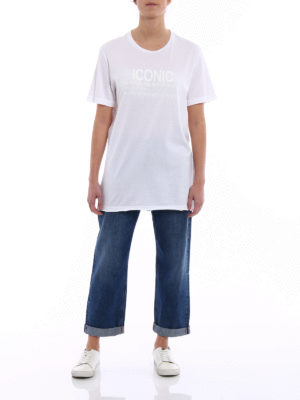 Dondup: t-shirts online - Iconic print cotton T-shirt