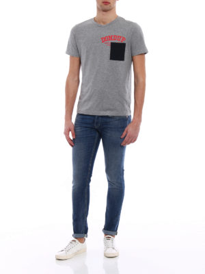 Dondup: t-shirts online - Milo chest pocket grey Tee