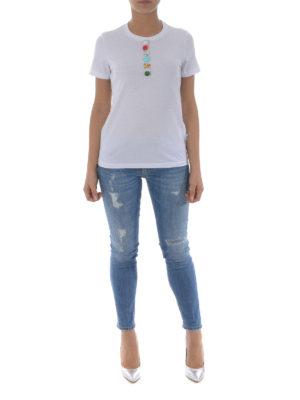 Dondup: t-shirts online - Multicolor applications T-shirt
