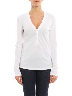 Dondup: t-shirts online - Tegmen Henley collar T-shirt