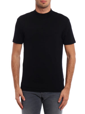 Dondup: t-shirts online - Turtleneck wool T-shirt