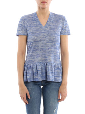 Dondup: t-shirts online - Viscose jacquard Alnair T-shirt