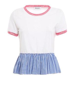 Dondup: t-shirts - Striped peplum Tee