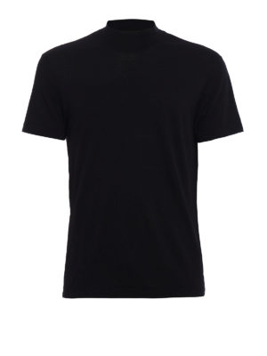Dondup: t-shirts - Turtleneck wool T-shirt
