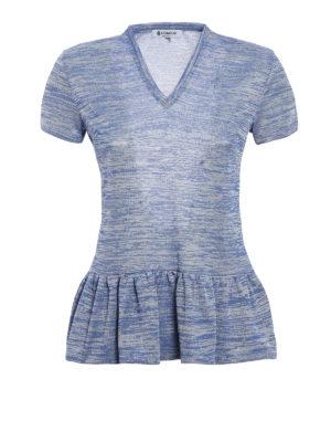 Dondup: t-shirts - Viscose jacquard Alnair T-shirt