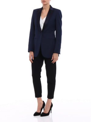 Dondup: Tailored & Dinner online - Spookie blue tuxedo blazer