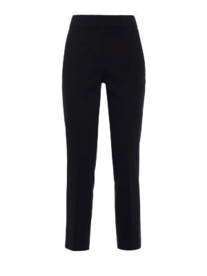 Dondup: Tailored & Formal trousers - Elegance crop formal trousers