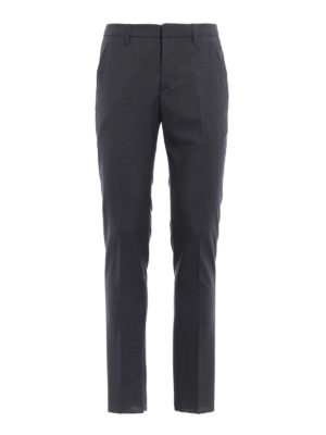 Dondup: Tailored & Formal trousers - Gaubert virgin wool trousers