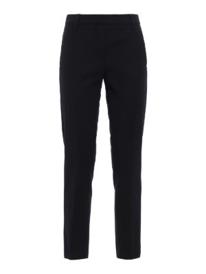 Dondup: Tailored & Formal trousers - Hives wool cigarette trousers