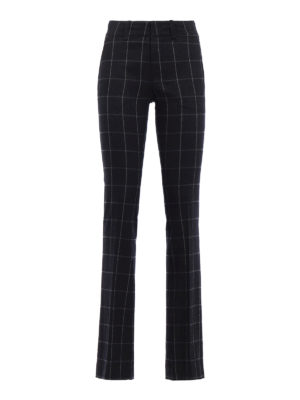 Dondup: Tailored & Formal trousers - Iommi check wool blend trousers