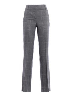 Dondup: Tailored & Formal trousers - Marion macro check trousers