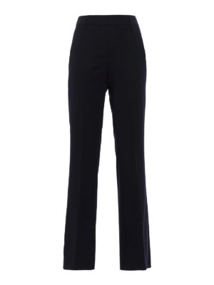 Dondup: Tailored & Formal trousers - Marion wool flared trousers