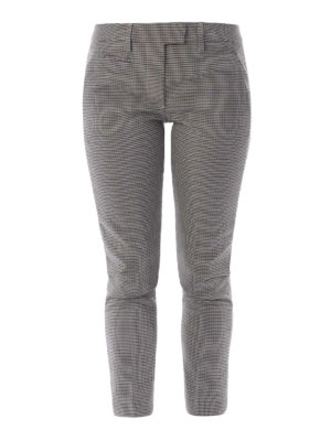 Dondup: Tailored & Formal trousers - Micro check wool Perfect trousers