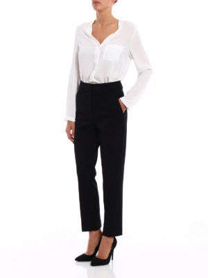 Dondup: Tailored & Formal trousers online - Elegance crop formal trousers