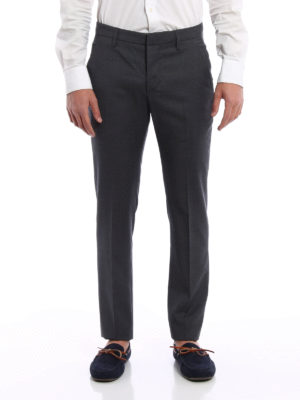 Dondup: Tailored & Formal trousers online - Gaubert virgin wool trousers