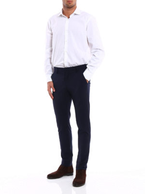 Dondup: Tailored & Formal trousers online - Gaubert wool blend trousers
