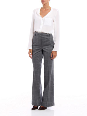 Dondup: Tailored & Formal trousers online - Marion macro check trousers
