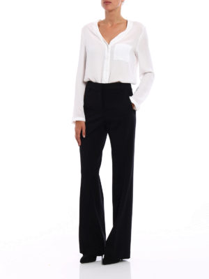 Dondup: Tailored & Formal trousers online - Marion stretch wool trousers
