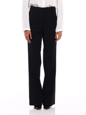 Dondup: Tailored & Formal trousers online - Marion wool flared trousers