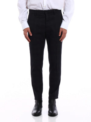 Dondup: Tailored & Formal trousers online - Palmer check wool blend trousers