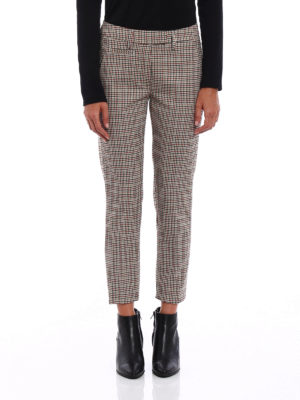 Dondup: Tailored & Formal trousers online - Perfect micro check wool trousers