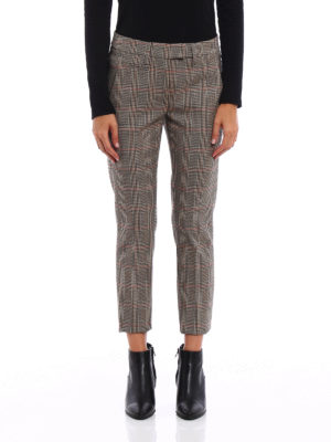 Dondup: Tailored & Formal trousers online - Perfect Prince of Wales trousers