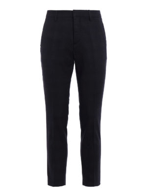 Dondup: Tailored & Formal trousers - Palmer check wool blend trousers