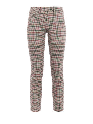 Dondup: Tailored & Formal trousers - Perfect micro check wool trousers