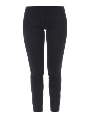 Dondup: Tailored & Formal trousers - Wool blend cropped leg trousers
